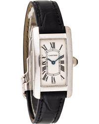 Cartier - Tank Américaine White Gold Watch - Lyst