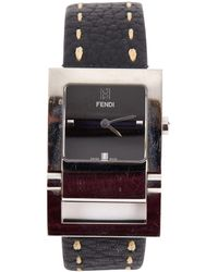 Fendi - Black Steel Watches - Lyst