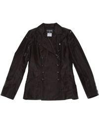 Chanel - Black Linen Jacket - Lyst
