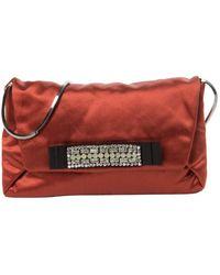 Lanvin Orange Cloth Clutch Bag