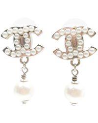 Chanel Earrings Lyst