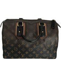 33e822328238 Lyst - Louis Vuitton Mini  Boom  Print Bowling Bag in Brown