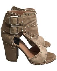 Laurence Dacade Beige Leather
