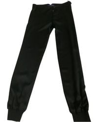 Ralph Lauren Collection - Black Silk Trousers - Lyst