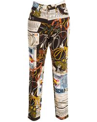 Moschino - Pre-owned Multicolour Cotton Jeans - Lyst