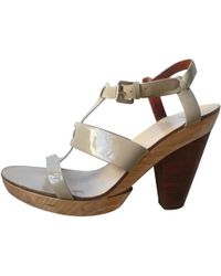 Givenchy - Beige Patent Leather Sandals - Lyst