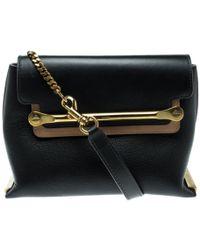 Chloé - Clare Black Leather Handbag - Lyst