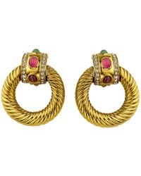 Givenchy - Gold Metal Earrings - Lyst