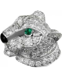 Cartier - Panthère White Gold Pin & Brooche - Lyst