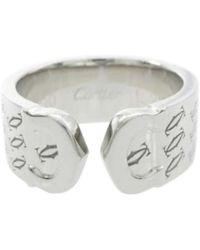 Cartier | Pre-owned C White Gold Ring | Lyst