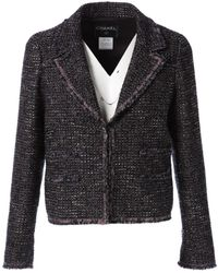 Chanel - Purple Tweed Jacket - Lyst