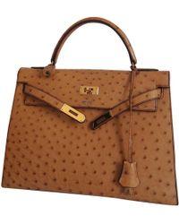 10e3fdda795d Hermès - Vintage Kelly 32 Other Ostrich Handbag - Lyst