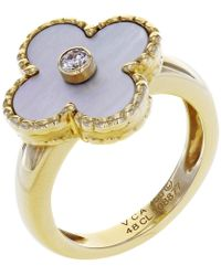 Van Cleef & Arpels - Alhambra Yellow Gold Ring - Lyst
