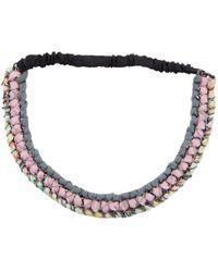 Maison Michel - Pink Cloth Hair Accessories - Lyst