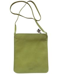 Lancel - Pre-owned Green Leather Clutch Bags - Lyst