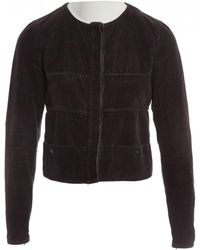 Chanel - Brown Cotton Jacket - Lyst
