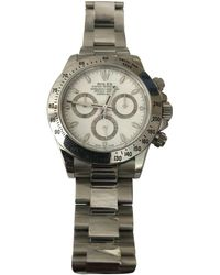 Rolex - Pre-owned Daytona White Steel Watches - Lyst