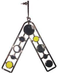 Dior - Silver Metal Earrings - Lyst