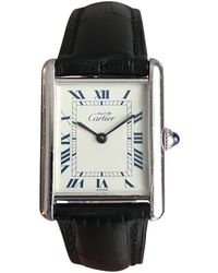 Cartier - Pre-owned Vintage Tank Solo Silver Silver Watches - Lyst