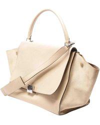 Céline - Pre-owned Trapèze Leather Crossbody Bag - Lyst