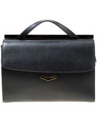 Fendi - Vintage Black Leather Handbag - Lyst