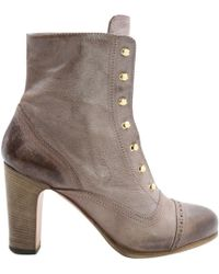 Vanessa Bruno - Pre-owned Purple Leather Ankle Boots - Lyst