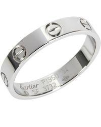 Cartier - Love Platinum Ring - Lyst