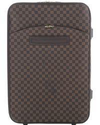 6820822ccb41 Lyst - Louis Vuitton Damier Brown Pegase 55 Travel Bag 6k200020n in ...