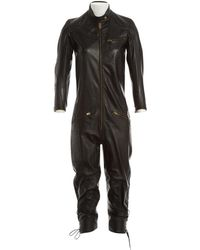 Chloé - Pre-owned Leather Jumpsuit - Lyst
