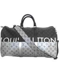 Louis Vuitton - Keepall Gray Cloth - Lyst