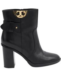 326bfca9b25 Lyst - Tory Burch Junction Booties - Porcini in Black