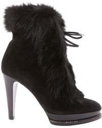 Ralph Lauren Collection - Black Suede Boots - Lyst