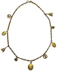 Chanel - Pre-owned Vintage Gold Metal Long Necklaces - Lyst