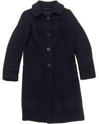 Maje - Black Wool Coat - Lyst