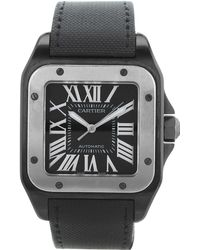 Cartier - Pre-owned Santos 100 Xl Black Other Watches - Lyst