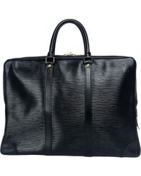 Louis Vuitton - Pre-owned Voyage Black Leather Bags - Lyst