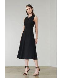 Victoria Beckham - Cross Back Sleeveless Midi Dress - Lyst