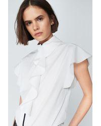 Victoria Beckham - Flute Sleeve Shirt - Lyst