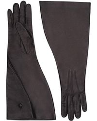 Victoria Beckham - Leather Gloves Folded - Lyst