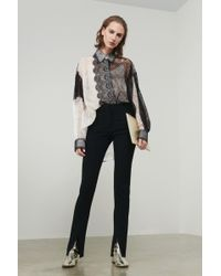 Victoria Beckham - Front Split Skinny Trouser - Lyst