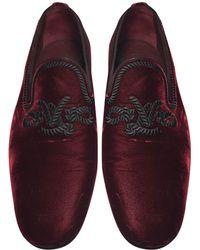 Louis Vuitton Mocassins velours rouge