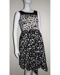Vera Wang Robe mi-longue polyester noir
