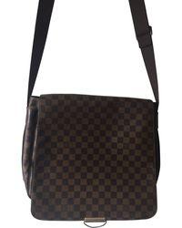 Louis Vuitton Sac en bandoulière tissu marron