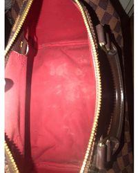 Louis Vuitton - Sac à main en cuir toile Speedy beige - Lyst