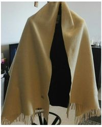 Burberry Echarpe laine beige - Neutre