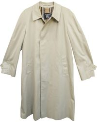 Burberry Imperméable, trench polyester beige - Neutre