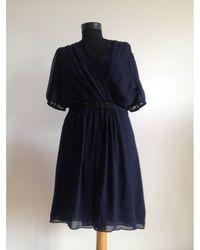 Claudie Pierlot Robe mi-longue polyester bleu
