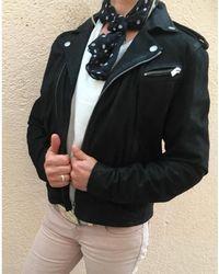 The Kooples - Veste en cuir cuir noir - Lyst