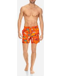 Vilebrequin - Men Swimwear Printed And Embroidered Sea Sex And Fun - Limited Edition - Lyst