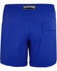 68c23758ec Vilebrequin Men Flat Belt Stretch Swimwear Solid in Yellow for Men - Lyst